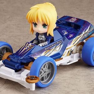 Good Smile Company's Nendoroid Puchi x Mini 4WD Saber drives Super Saber Special