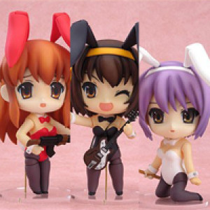 Good Smile Company's Nendoroid Suzumiya Haruhi Bunny Girl Set Pearl Version